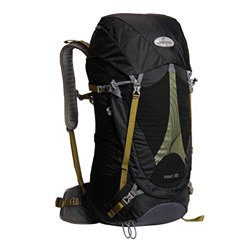 Bulk-professionelle Bergsteigen Rucksack/Wasserdichte Outdoor-Taschen/Reisen/Wanderrucksack-schwarz 32L
