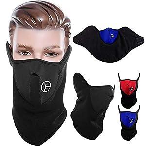 Flbako face mask for pollution Half Face Mask For Men and Women, Bike Riding Mask   Black