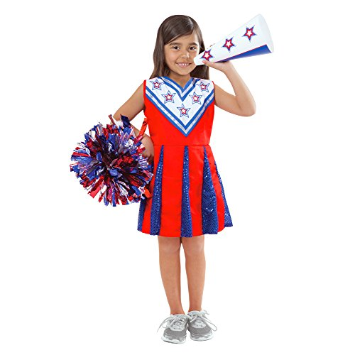 Melissa & Doug Cheerleader Role Play Costume Dress-Up Set Realistic Accessories -