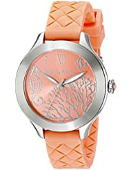 Tommy Bahama  Womens 10018338 Waikiki Reef Stainless Steel Watch with Orange Silicone Band