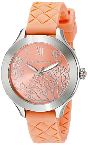 (Tommy Bahama  Women's 10018338 Waikiki Reef Stainless Steel Watch with Orange Silicone)