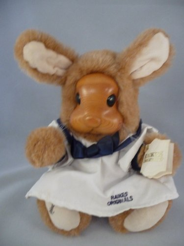 "Robert Raikes Original Doll Stuffed Rabbit Girl Bunny Wood Face 1990 ""Betsy Ann"""