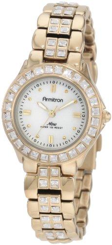 Gold Tone Crystal Bezel Watch - 9