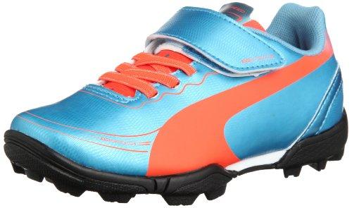 Puma evoSPEED 5.2 TT V Jr 102886 Unisex-Kinder Fußballschuhe, Blau (sharks blue-fluro peach-fluro yellow 04), EU 38 (UK 5) (US 6)