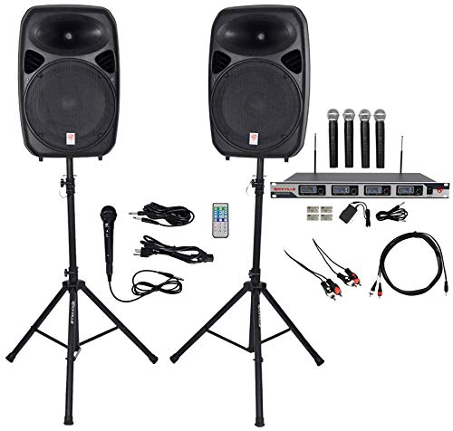 Rockville Dual 15 iphone/ipad/Android/Laptop,TV Youtube Karaoke Machine/System