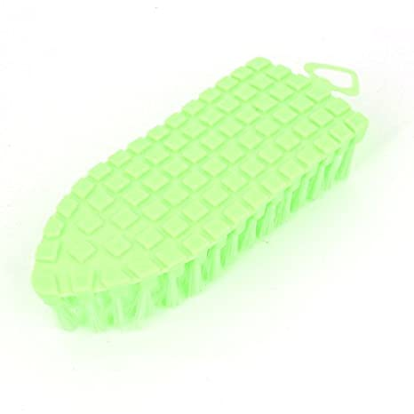 Amazon.com: Zapatos Verdes Shell Flexible Scrubbing cerdas suaves cepillo de limpieza: Health & Personal Care