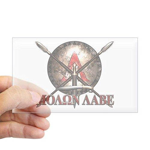 CafePress Molon Labe - Spartan Shield and Swords Sticker Rectangle Bumper Sticker Car Decal -