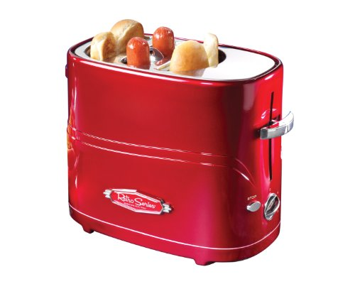 082677151001 - Nostalgia HDT600RETRORED Retro Series Pop-Up Hot Dog Toaster carousel main 0