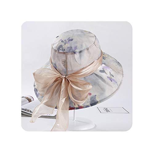 Encounter_meet Women's Summer Beach Bucket Hat with Bowknot