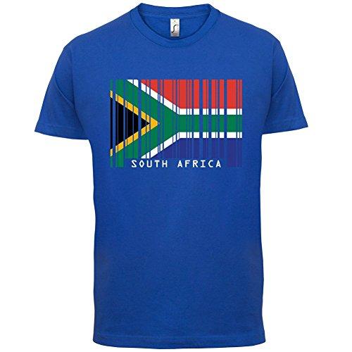 South Africa / Südafrika Barcode Flagge - Herren T-Shirt - Royalblau - S
