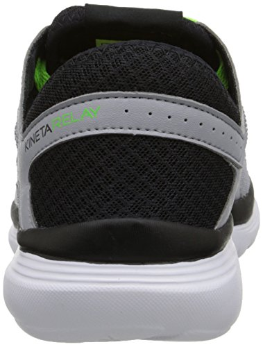 Saucony Uomo Kineta Relay Running Shoe, Grey/Nero,10 M US