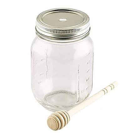 2 x tarro de Kilner/Mason tarros de miel de bambú con tapa de la