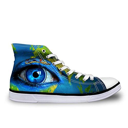 Pour Vous Les Conceptions Des Femmes De La Toile Des Chaussures De Chaussures Vive Les Yeux De La Pupille Haut Haut Espadrilles Plates Yeux De La Pupille 3