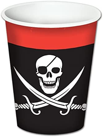 Pirate Party - Pirate Birthday Party Supplies for 16 Guests Including Large Plates, Napkins & Cups