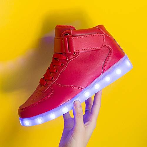 Alikeey Drapeau Neutre Femmes Zapatillas Lumineuse Pliantes Occasionnel Chaussure Mode Velcro Rouge Lumineux Ballerines De Lger Espaa Semelle Led Paez rrwdqOg