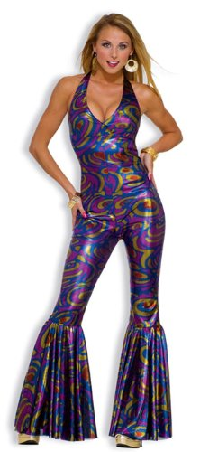 [Forum Novelties Women's Funky Dancing Fox 70's Disco Costume, Multicolor, X-Small/Small] (Funky Halloween Costumes)