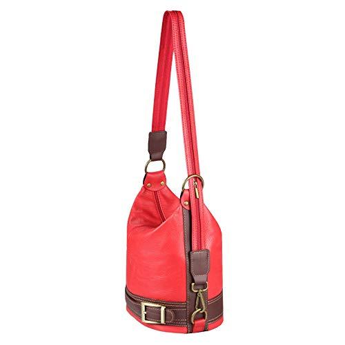 Brun cm Sac Main ITALYSHOP24 Dos Femme Rouge ca pour 22x29x16 porté à Marron Marron au BxHxT Cognac COM Aqww65T