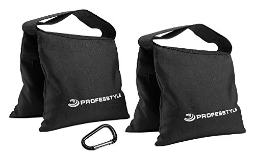 (Professtyle Sandbag Weight For Photography & Light Stands With Iron Insert - No Leaks Sand - Hook as a gift, Limited Time)