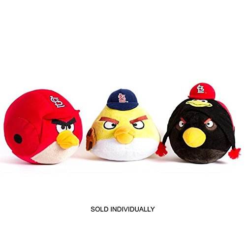 MLB St. Louis Cardinals Angry Bird Plush Toy, Small, (Louis Cardinals Fiber)