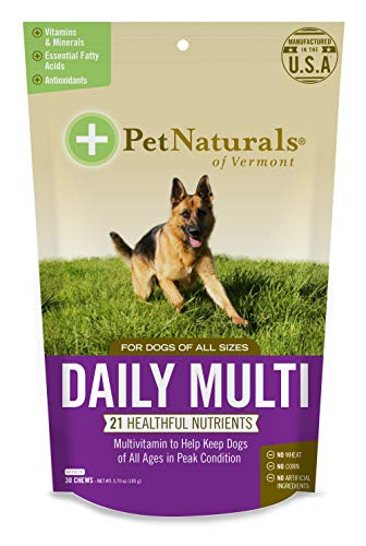 Pet Naturals of Vermont - Daily Multi for Dogs, Everyday Multivitamin Formula with 28 Canine Specific Nutrients, 30 Bite-Sized ()