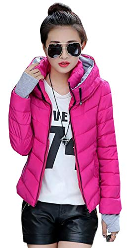 Synthetic Puffer Hooded 1 Coat Coat Insulated Women EKU Jacket PSq5RSaw