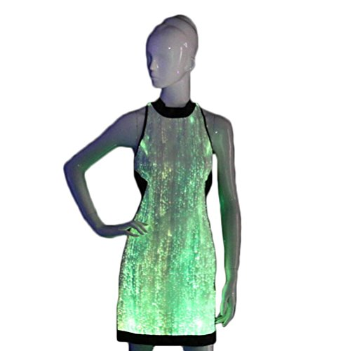 LED Lighting Fiber Optic Bridesmaid Cocktail Homecoming Party Dresses ()