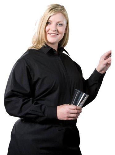 Edwards Garment Women's Long Sleeve Cafe Shirt, Black, Small ()