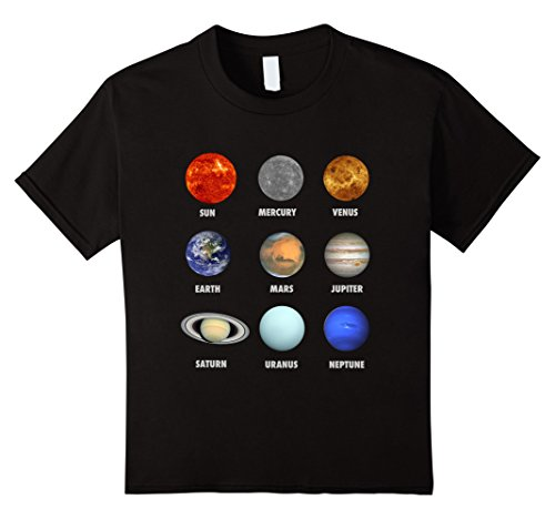 Kids Planets of the Solar System and the Sun with names T...