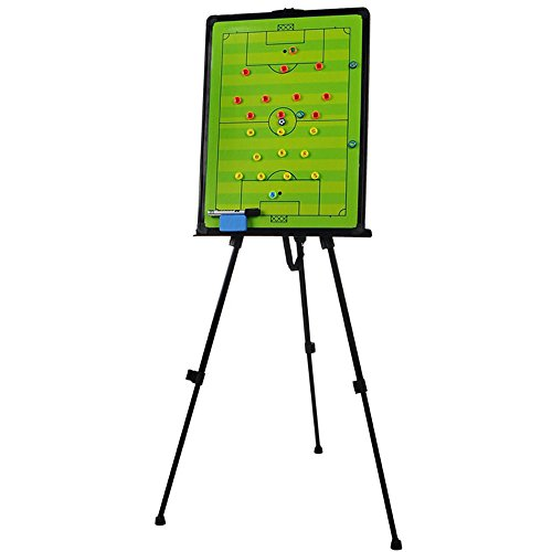 Odowalker Soccer Football Tactic Coaching Board Strategy Game Plan Whiteboard Dry Erase Marker Board Training Equipment - Large Size with Tripod Stand and Carrying Tote by Odowalker (Image #2)'