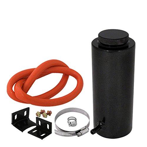 Morakot Racing - 800ML Cylinder Radiator Overflow Reservoir Coolant Tank Aluminum Can Black