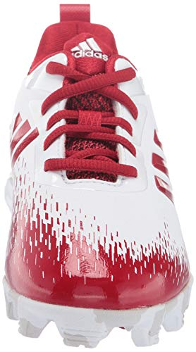 adidas Adizero Afterburner V Baseball Shoe White/Power red/Grey 5 M US Big Kid by adidas (Image #4)