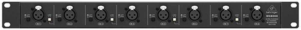 Behringer ULTRALINK MS8000 Ultra-Flexible 8-Channel Microphone Splitter