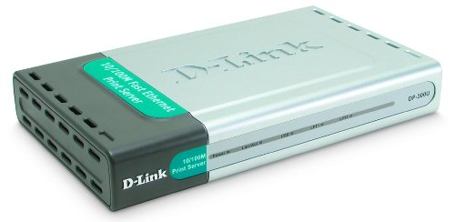 D-Link DP-300U 10/100TX 1-USB Port 2-Parallel Port Print Server by D-Link