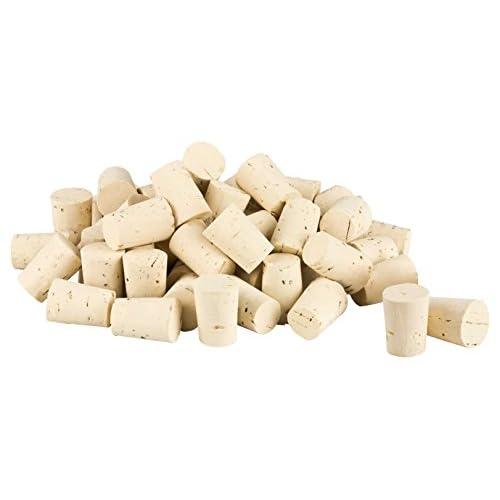 100 bouchons en liège (bouchons pour tubes à essai, conique) Longueur = 22 mm, âŒ