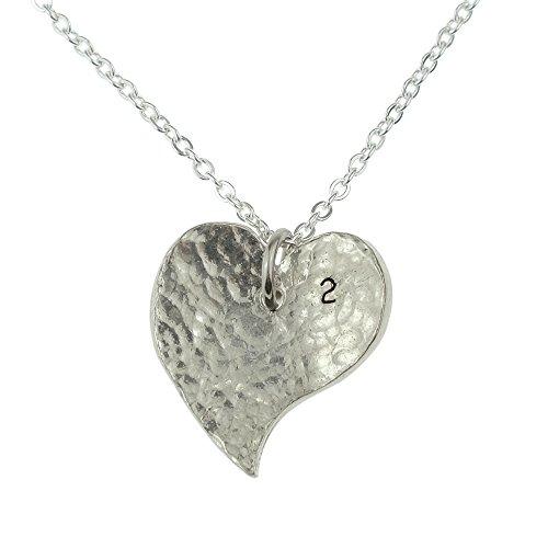 2nd Year Anniversary Collier cœur-Excellent 2nd Cadeau d'anniversaire pour votre femme