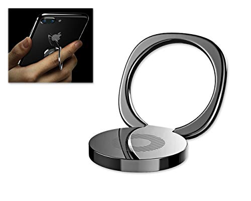 ACE SELECT 3mm Ultra Slim Phone Ring - Sleek Metal Finger Ring Stand - Phone Grip Kickstand Compatible with iPhone Xs Max/iPhone X/8 Plus/7 Plus/6s, Samsung Note 9/Note 8/Galaxy S9/S8 ()