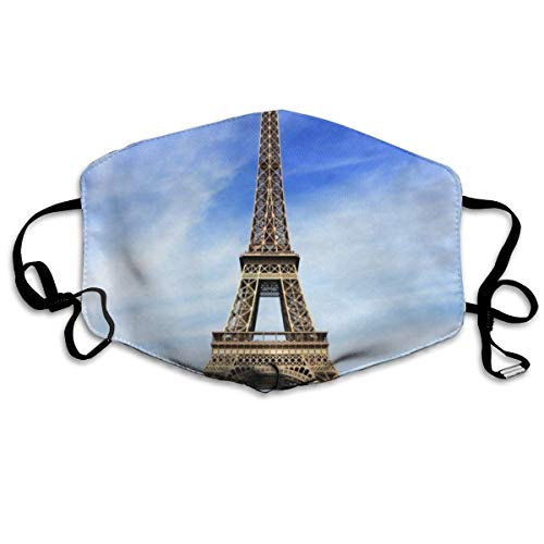 Mouth Mask Eiffel Tower Scenery Surgical Mask Winter Warmth Healthy Reusable for Boys -