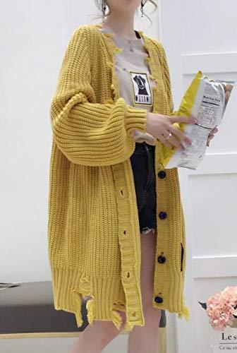(ジャンーウェ)ニットカーディガン ロング丈 レディース 秋服 厚手コート アウター カジュアル オシャレ ニットセーター ファッション