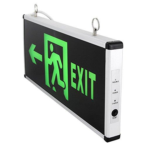 LED Schild - Notausgang Fluchtwegleuchte Notleuchte Exit 230V - beidseitig beleuchtet