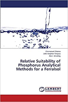 Relative Suitability of Phosphorus Analytical Methods for a Ferralsol