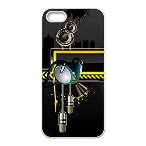 Creative Black Building Pattern Hot Seller High Quality Case Cove For Iphone 5S