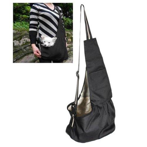 Black Pet Dog Puppy Strap Sling Shoulder Bag Carrier (L), [Importado de Reino Unido] Pixnor