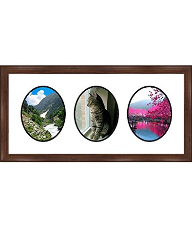 (Frames by Mail Triple Oval Opening Collage Frame for 8