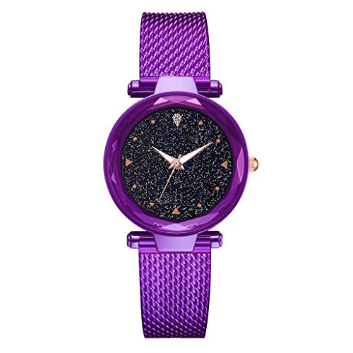 (Kay Cowper Fashion Without Digital Cool Simple Star Sky Dial Ladie Mesh with Quartz Watch)