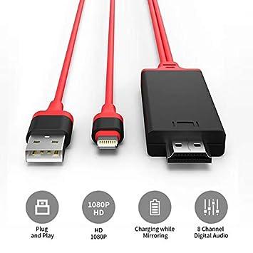 VSEER - Adaptador de Cable HDMI 1080P HDTV Digital AV 8 Pines ...