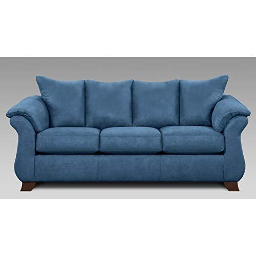 Sofatrendz Corbin Blue Sofa Modern Contemporary Solid Polyester