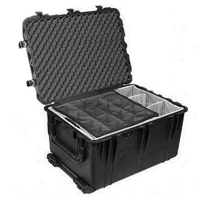UPC 019428029067, Pelican 1664 Black 1660 Case with Padded Dividers