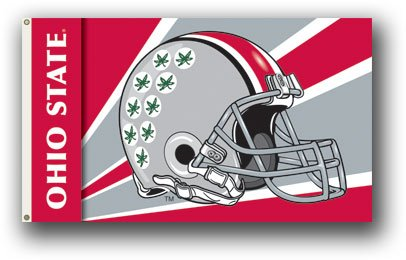 - NCAA Ohio State Buckeyes Helmet Flag with Grommets 60 x 36in