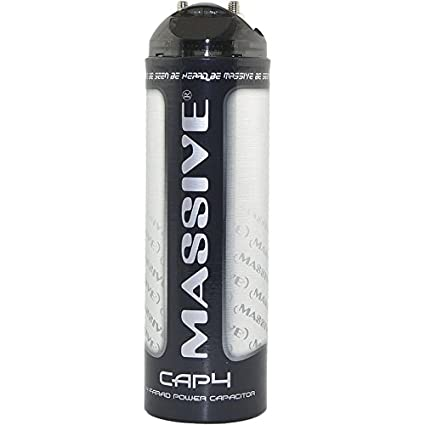 Amazon com: Massive Audio CAP4-4 Farad Car Audio Capacitor