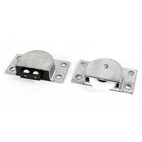 eDealMax Armario 23mm Rueda rectangular tono de plata puerta corrediza de juego de rodillos - - Amazon.com